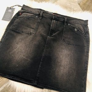 Rock Republic black denim mini skirt 16 NWT